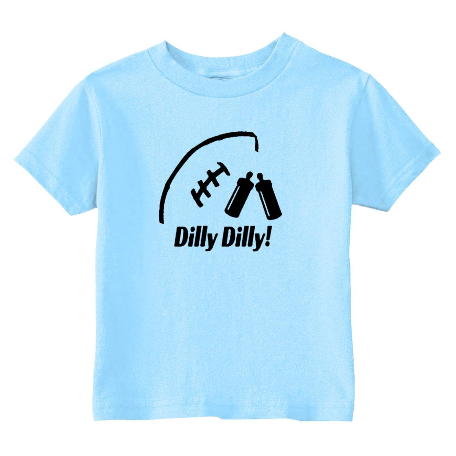 36fa600bd Get Quotations · U.S. Custom Kids Dilly Dilly Football Toddler T-Shirt, 2T,  Light Blue