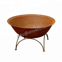High Quality Factory Price Large garden treasures fire pit steel / Steel Fire Bowl Large