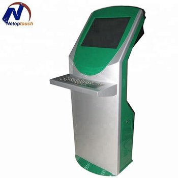 Metal keyboard touch kiosk
