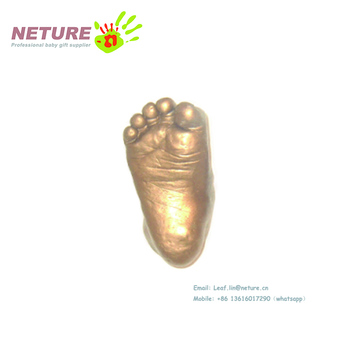 Wholesale Baby 3D casting foot gift set