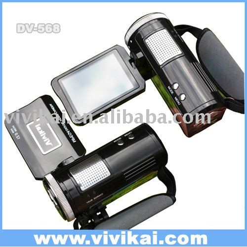 Vivikai digital video camera with MP3 player, 3.0 inch TFT LCD DV-568