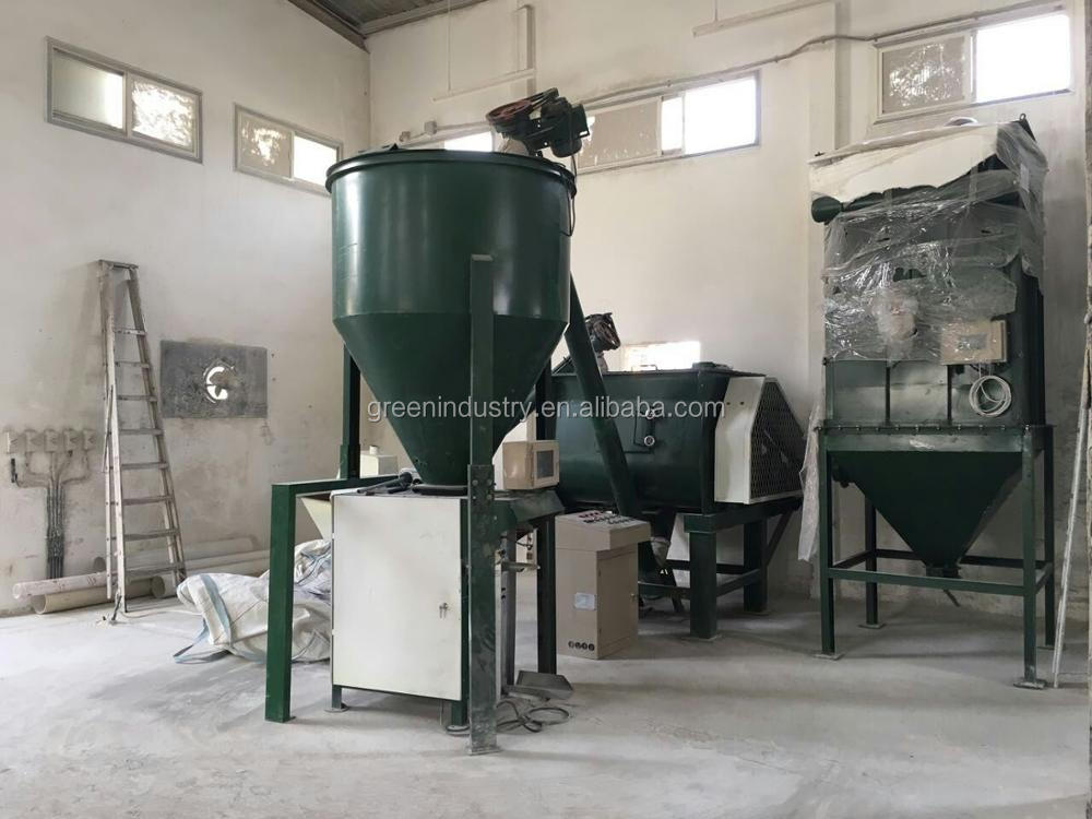 Auto Weighing and De-dust Dry Polymerric Mortar Crack-sealer Putty Powder Mixer
