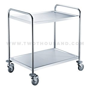 TT-BU103B Two Shelf Stainless Steel Hotel Room Utility Bus Service Cart