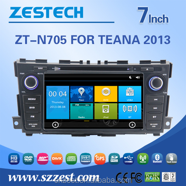 touch screen for nissan teana dashboard dvd player with A8 chipset auto parts multimedia
