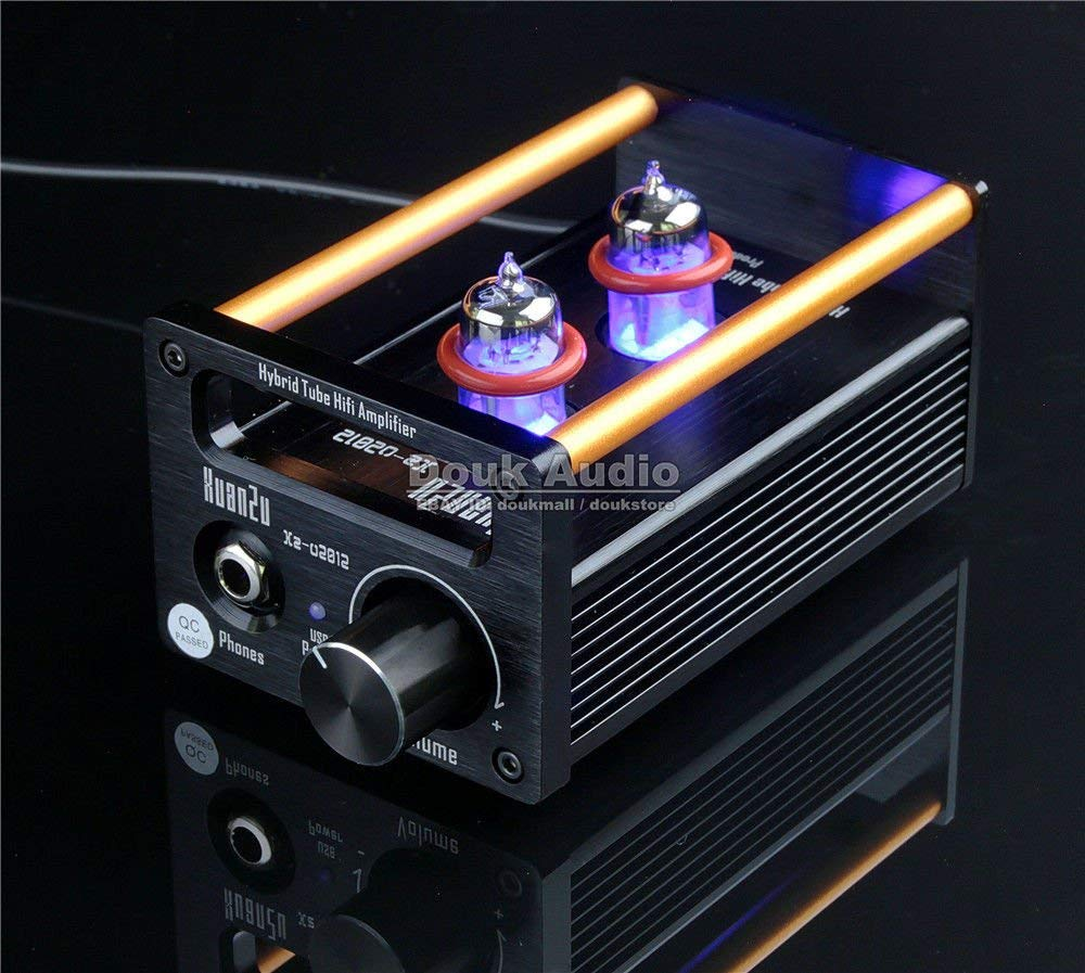 Douk Audio 2P2+VMOS Class A Hybrid Tube Amp Headphone Amplifier USB DAC HiFi Pre-Amplifier