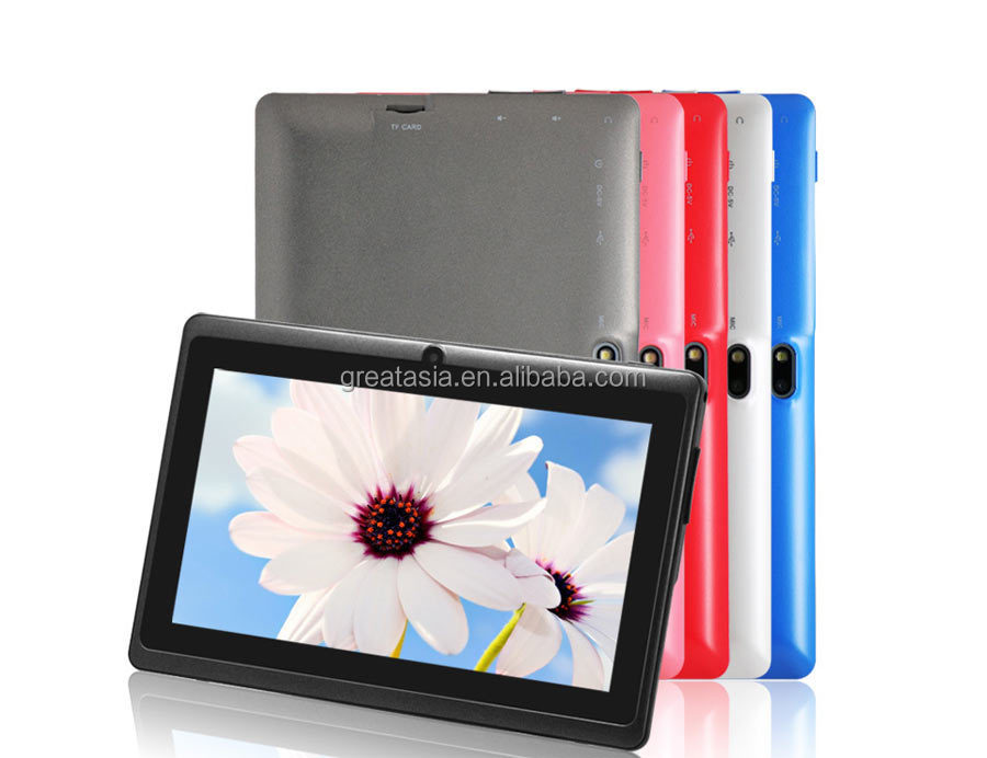 best price 7 inch Allwinner Q88 Quad Core Android4.4 <strong>Tablet</strong> from shenzhen Great Asia
