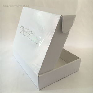 Custom print gloss white shipping carton box with logo corrugated beauty case carton box white cardboard mailer box with logo