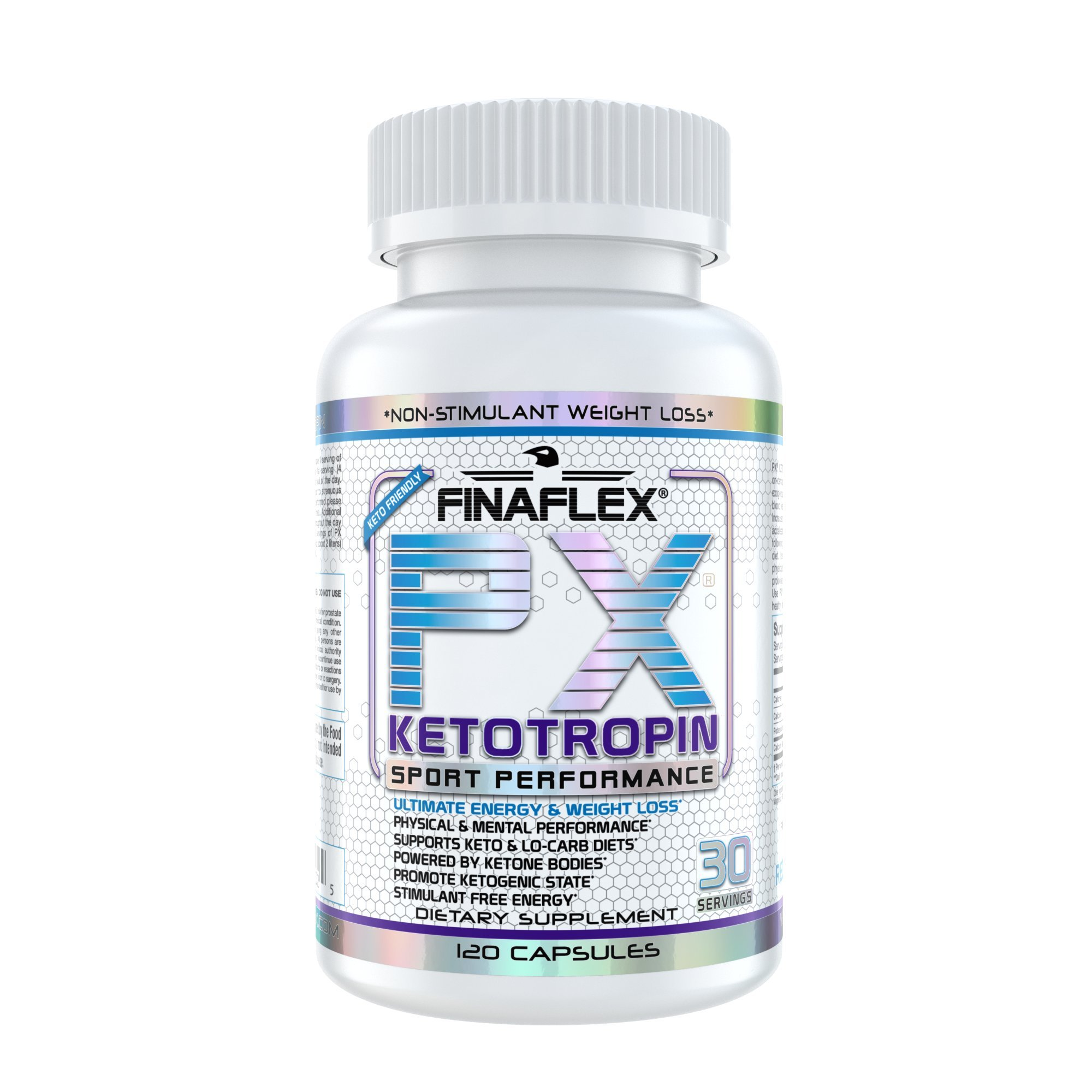 PX KETOTROPIN, 120 Capsules, BHB (Ketones), Built for the Ketogenic Dieter, Non-Stimulant Energy, Stimulant Free, Use While on Ketogenic Diet (KETO), Take Before Fasted Cardio for Energy, On the Go