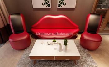 Bisini Creative Red Lip And High Heel Shape Sofa Set For Living Room Modern