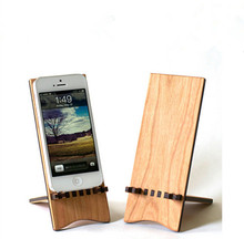 Factory custom diy wood wooden desk mobile cell phone stand holder