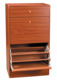 wooden shoe storage cabinet closed shoe rack