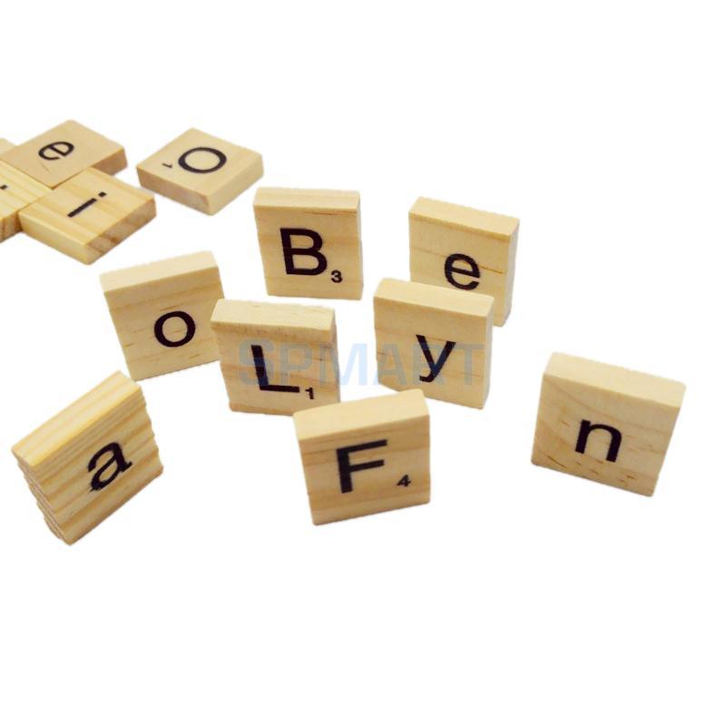 acheter 100 mix en bois scrabble tuiles lettres alphabet artisanat conseil jeu. Black Bedroom Furniture Sets. Home Design Ideas