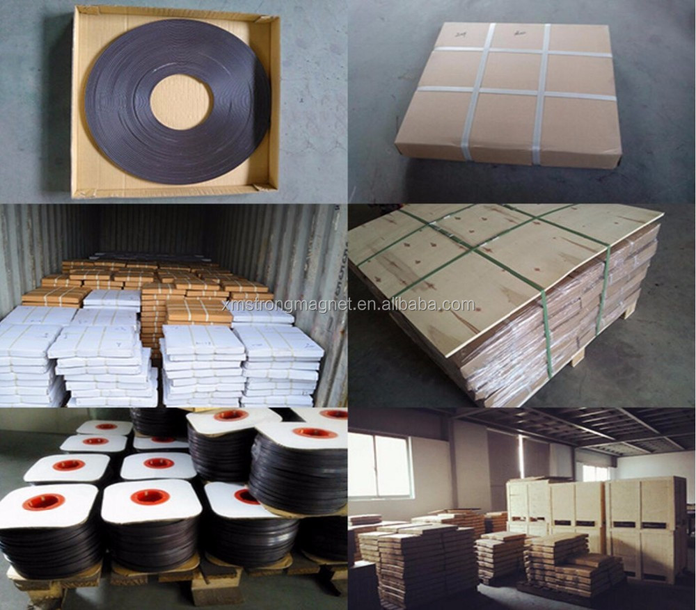 Multipole Strip Magnet Good Quality Self Adhesive Flexible Soft Rubber Magnetic Tape Magnet Band