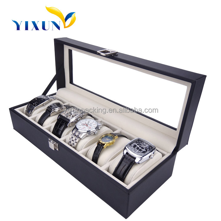 China factory cheap price wholesale 6 10 12 20 slots leather wooden watch gift watch storage box