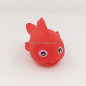 Custom fishing bath toy, Cartoon fish kids bath toys vinyl, OEM rubber fish bath toys wholesale
