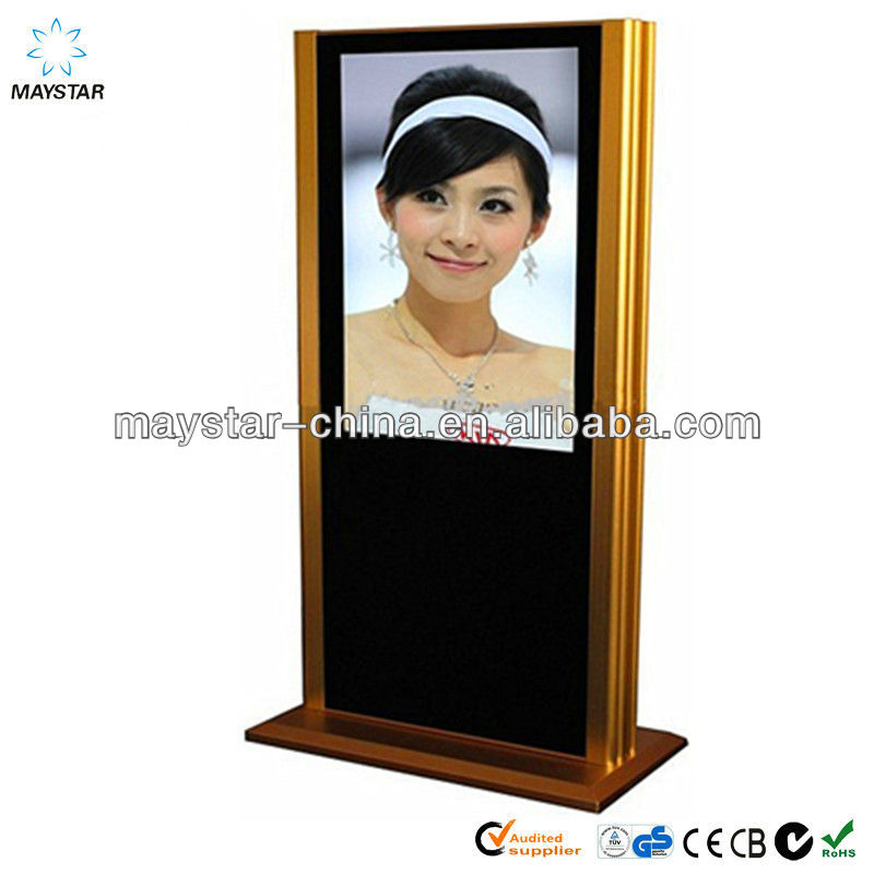 46 inch best price 2 years product warranty Floor STANDING full HD wifi/3g wireless real color hdd media player
