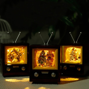 Hot Sale TV Christmas ornaments novelty creative electronic products Mini led night light for Christmas Decoration