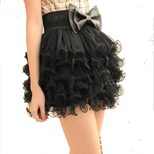 2015 summer style new lace mesh gauze shredded multilayer princess skirt simple  elegant fashion cute tutu saia