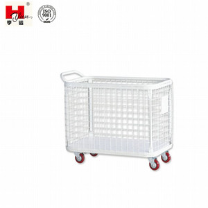 Custom Made High Quality Metal Garment Hand Trolley with Wheels