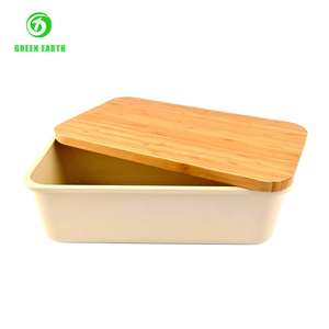 ecology wooden bento box with fitting cover crisper box eco biodegradable food storage box