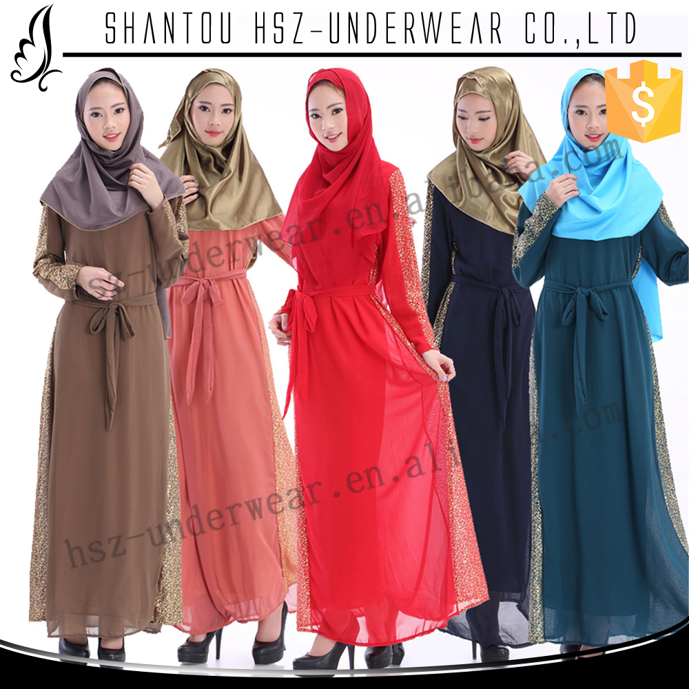 Zakiyyah 60014 Latest Burqa Abaya Shops Dubai Burqa Collection in China Chiffon Dubai Fancy Dress Abaya with Belt for Women