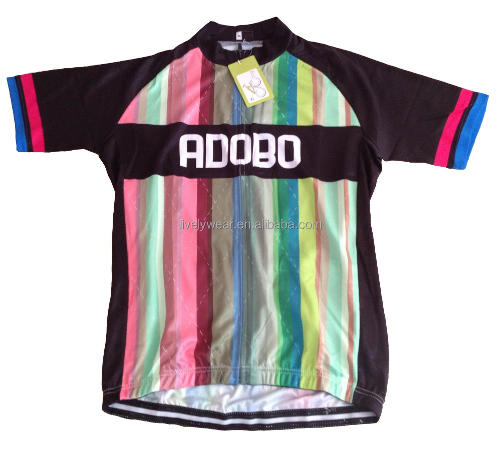 Livelywear -- women&men coolmax sublimation manufacturer in china bike jersey/bicycle clothing/cycling jersey