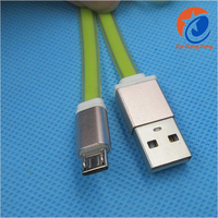 Universal Smartphone noodle colored micro V8 usb charging cable 1m 20AWG 28AWG