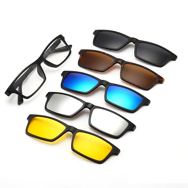 ba55225e6 DLC2253A New Arrivals 2019 5 Clip Magnético Em Óculos de Sol Óculos de  Condução ...