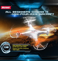 Quadcopter Helicopter Skytech M62R Camera 0.3MP 6-Axis 4CH RC Airplane 360 Flip(270242)