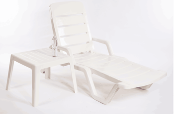 Degaulle Manufacturer Patio Furniture White Folding Plastic Sun Loungers