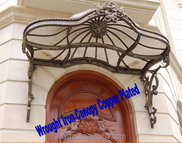 Copper plated wrought iron canopy made in China