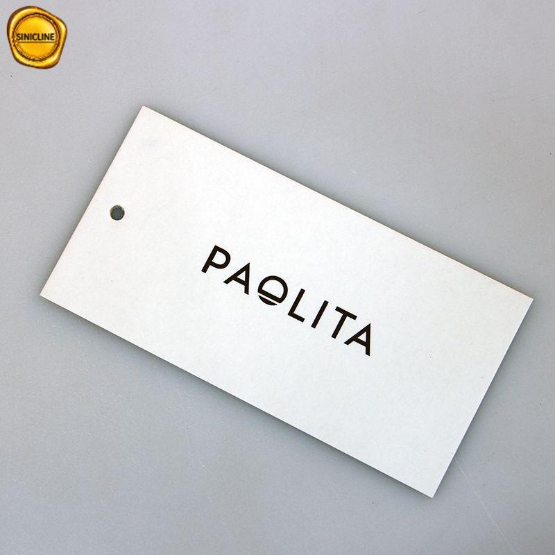 Sinicline Personnalisé noir couleur feuille d'or 2019 papier étiquette volante