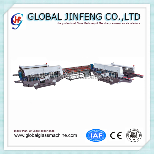 JFD-4525 L type automatic bilatera glass double edge mill production line polishing Machine (90 degree)