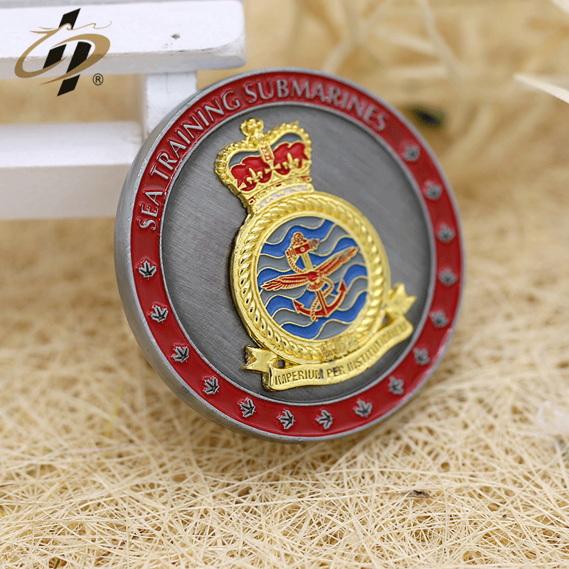 China manufacture custom enamel 3d navy military challenge coin