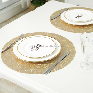 Yellow Gold Plastic Material and Eco-Friendly Feature PVC Placemat
