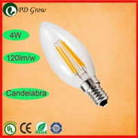 1W-6W E14 E12 B22 B15 E26 E27 360 degree lg led filament bulb/candle bulb light
