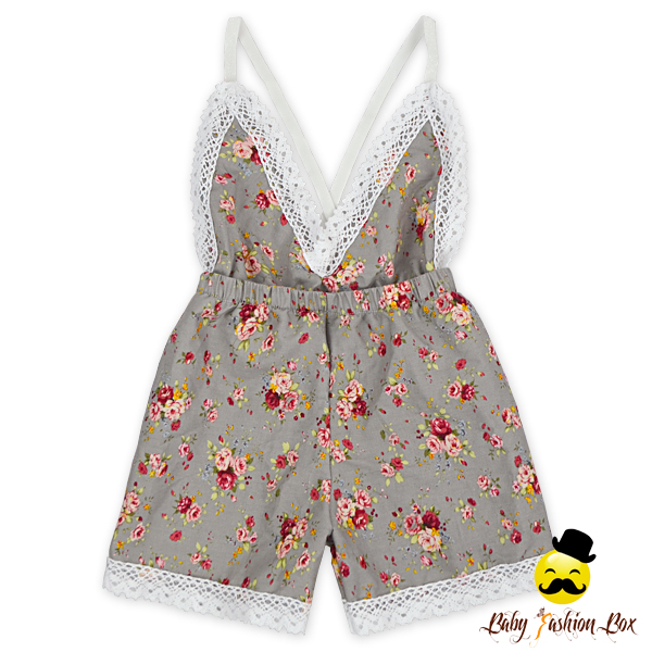 Lovely Summer Baby Girls No Bombs Woven Printed Baby Lace Baby Clothes Romper Girl