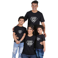Parent-child casual outfit family clothing sets cotton t-shirt