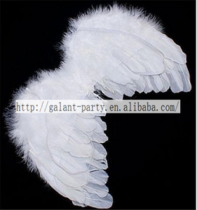 cute baby white angel wings feather for party decoration