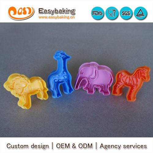 cp-205 strong food grade lion elephant zebra giraffe animal 4 pcs cookie cutter set.jpg