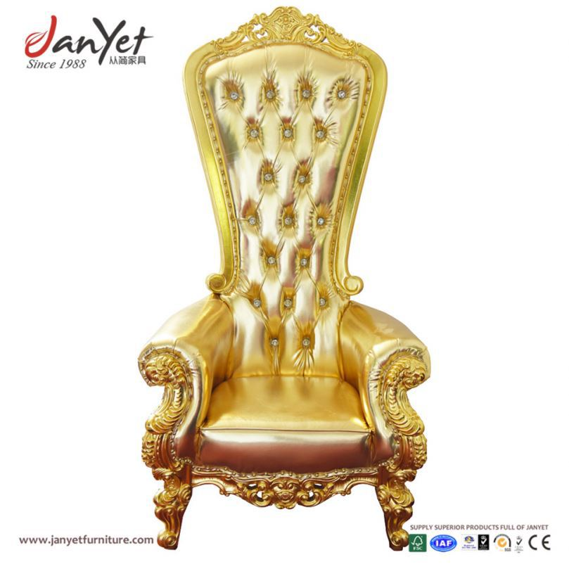 Cheap Royal Beautiful Gold Wedding Chairs Bride And Groom