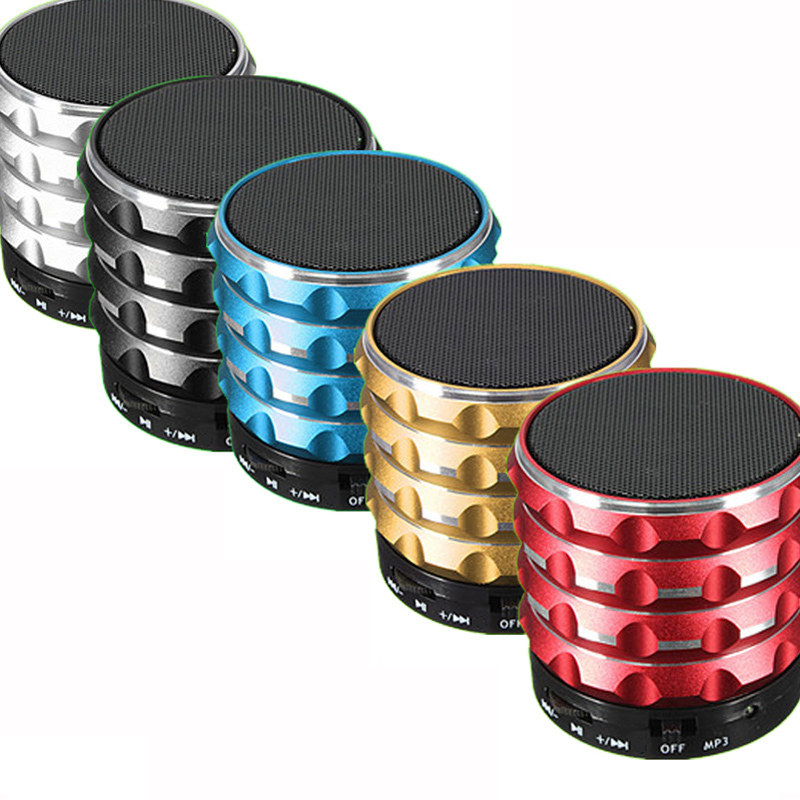Portable Mini Wireless Stereo Bluetooth Speakers Super Bass Portable Speaker Handsfree With Hifi Mic TF Card Slot For Laptop PC