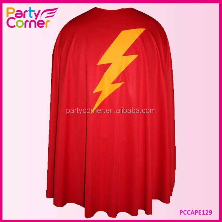 The Flash Red Super Hero Cape Custom Star made Superhero Capes