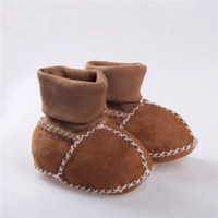 Best Selling Genuine Sheepskin Leather Baby Shoes