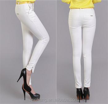 7e3f197bd Mujer De Color Blanco Damas Jeans Diseño Vaqueros - Buy Mujer Jeans ...