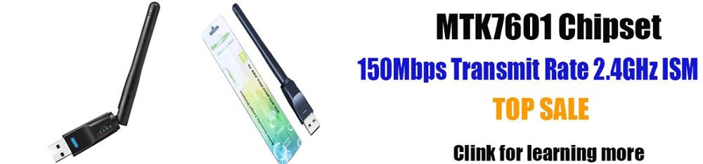 MT7601 Ralink RT7601 Chipset Driver Kartu Jaringan Nirkabel 150 Mbps Wifi USB Adapter