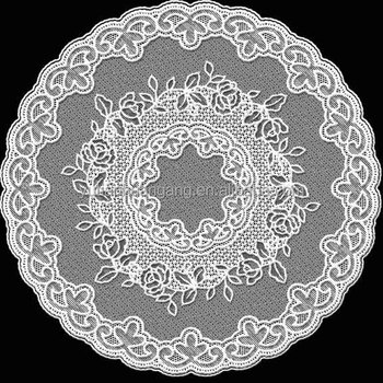 White Lace Sweet Round Plastic Lace Tablecloth/dinner Mat/place Mat