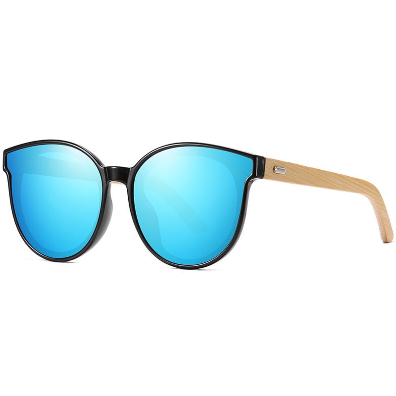 KDEAM Dropship Bamboo Sunglasses Oversized Cat Eye Women Sun glasses 2019 CE Cute Eyewear for Men Polarized UV400