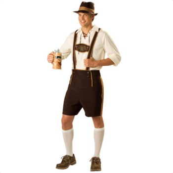 Halloween Bavarian Guy Oktoberfest Lederhosen German Beer Men Costume AD665