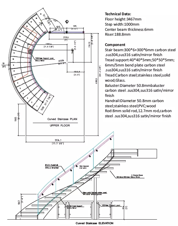 Curved Stair Plan - Home Interior Blog